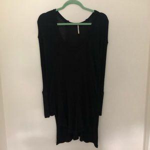 Free People Black Thermal Sweater